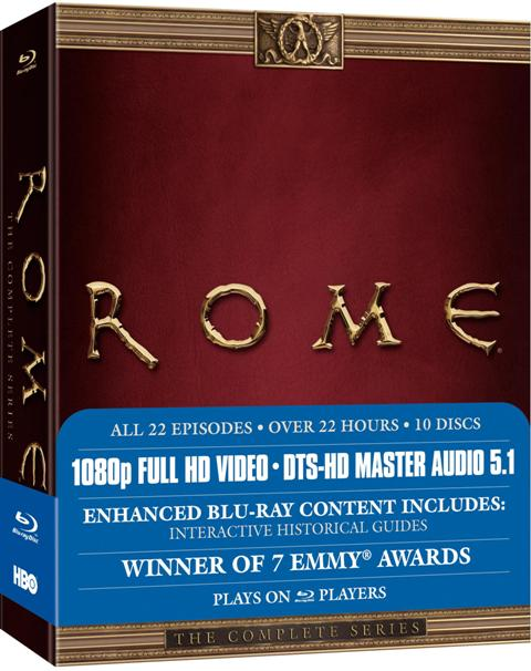 Rome: The Complete Series was released on DVD and Blu-Ray on November 17th, 2009.
