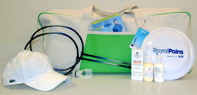 The mega summer gift bag offered in this Royal Pains giveaway