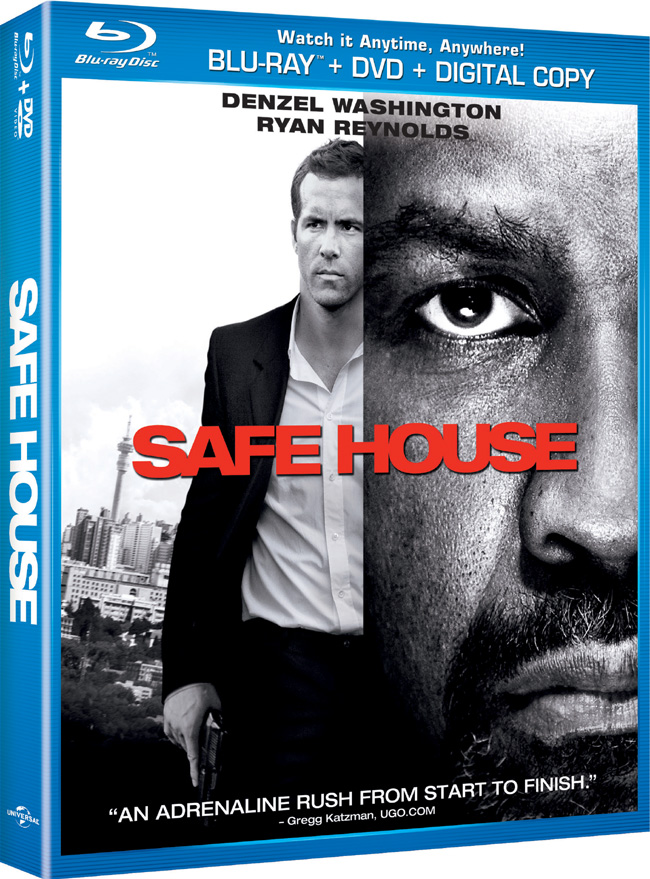 Safe House with Denzel Washington comes to Blu-ray and DVD on June 5, 2012