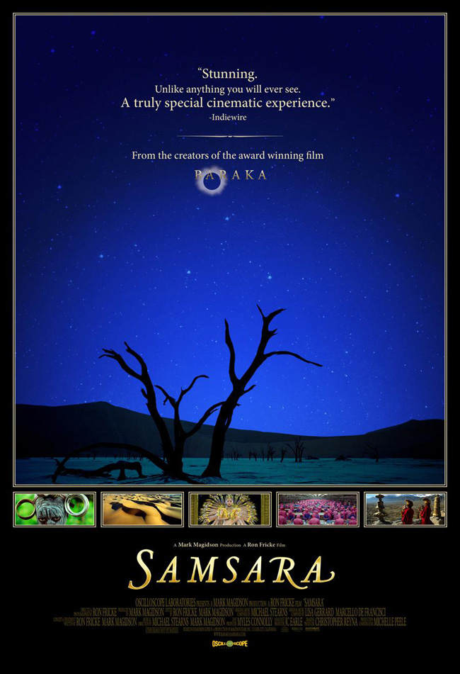 The movie poster for Samsara from Ron Fricke and Mark Magidson