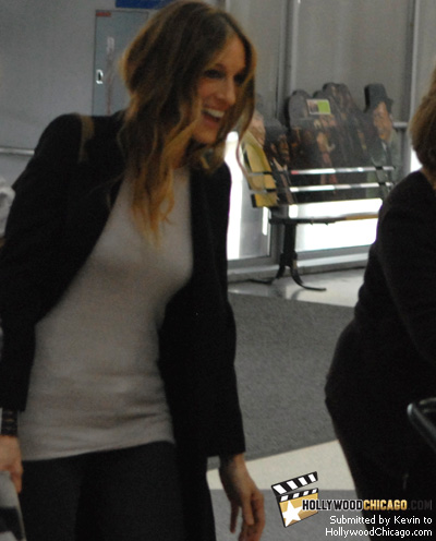 Sarah Jessica Parker in Chicago to promote Sex and the City: The Movie