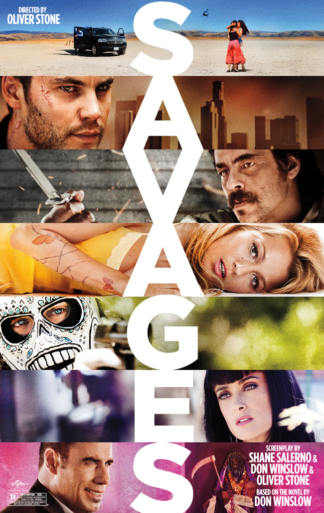 The Savages movie poster from Oliver Stone with Benicio Del Toro and John Travolta