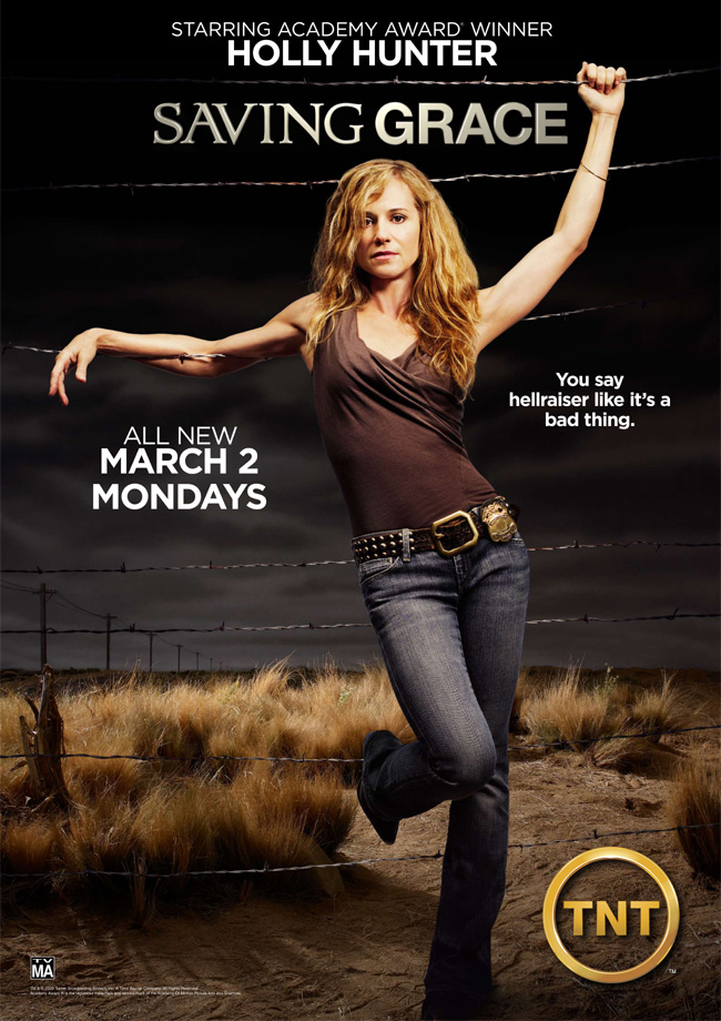 Saving Grace on TNT stars Academy Award-winning actress Holly Hunter