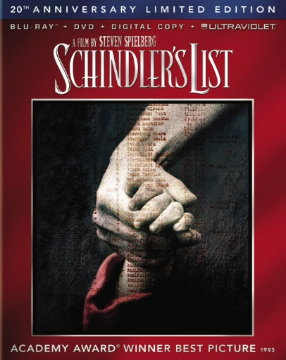 Schindler's List was released on Blu-ray on March 5, 2013