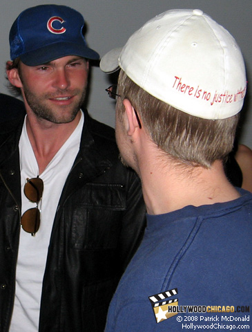 The Promotion co-star Seann William Scott (left) in Chicago on April 22, 2008