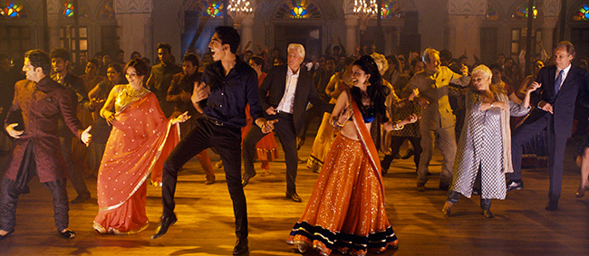 Dev Patel and Tina Desai in The Second Best Exotic Marigold Hotel