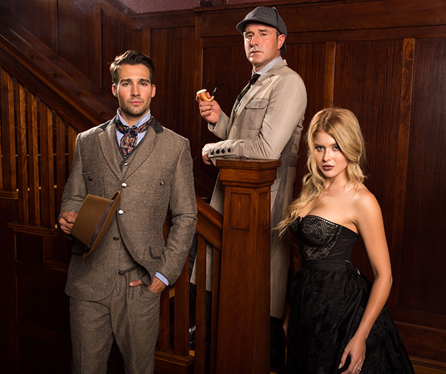 David Arquette, James Maslow and Renee Olstead in Sherlock Holmes