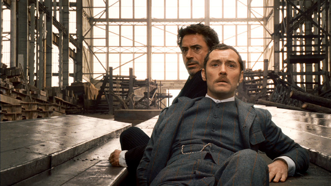 Robert Downey Jr. (left) and Jude Law in Guy Ritchie's Sherlock Holmes