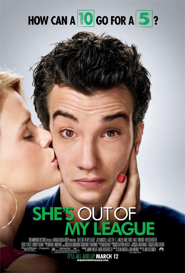 The movie poster for She's Out of My League with Jay Baruchel