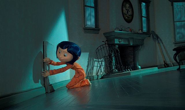 Coraline (voiced by Dakota Fanning) is eager to enter the doorway to another world in the stop-motion animated 3-D adventure Coraline, from LAIKA Entertainment for release by Focus Features.