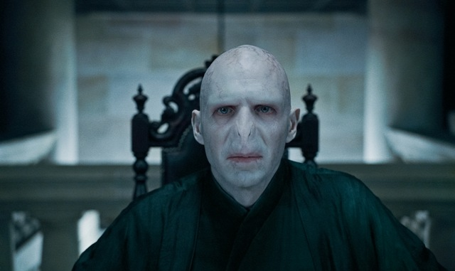 Ralph Fiennes as Lord Voldemort in Harry Potter and the Deathly Hallows: Part 1