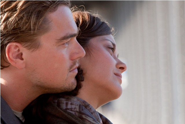 Leonardo DiCaprio and Marion Cotillard in Inception