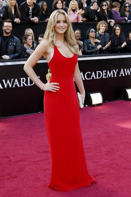 Jennifer Lawrence 2011 Oscars Red Carpet