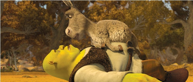 Shrek (Mike Myers) and Donkey (Eddie Murphy) Off on a New Adventure.