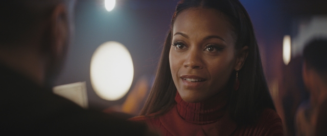 "Zoë Saldana (center) stars as Uhura in ""Star Trek."""