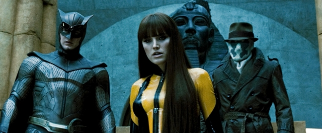 CPatrick Wilson as Nite Owl II, Malin Akerman as Silk Spectre II and Jackie Earle Haley as Rorschach.