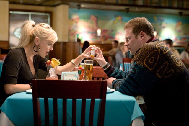 Anna Faris as Brandi and Seth Rogen as Ronnie.