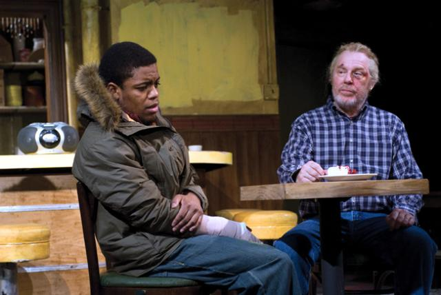 Ensemble member Jon Michael Hill (left) and Michael McKean (right) in Superior Donuts, which is written by ensemble member Tracy Letts and directed by ensemble member Tina Landau