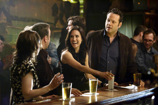 Left to right: Winona Ryder, Kevin James, Jennifer Connelly and Vince Vaughn in The Dilemma