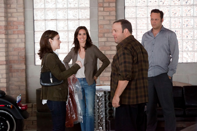 Left to right: Winona Ryder, Jennifer Connelly, Kevin James and Vince Vaughn in The Dilemma