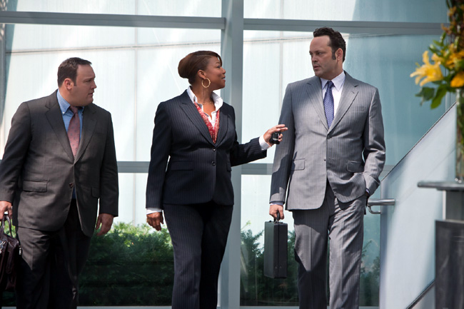 Left to right: Kevin James, Queen Latifah and Vince Vaughn in The Dilemma