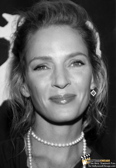 Uma Thurman in Chicago on Oct. 8, 2009 for the Motherhood premiere as part of the Chicago International Film Festival