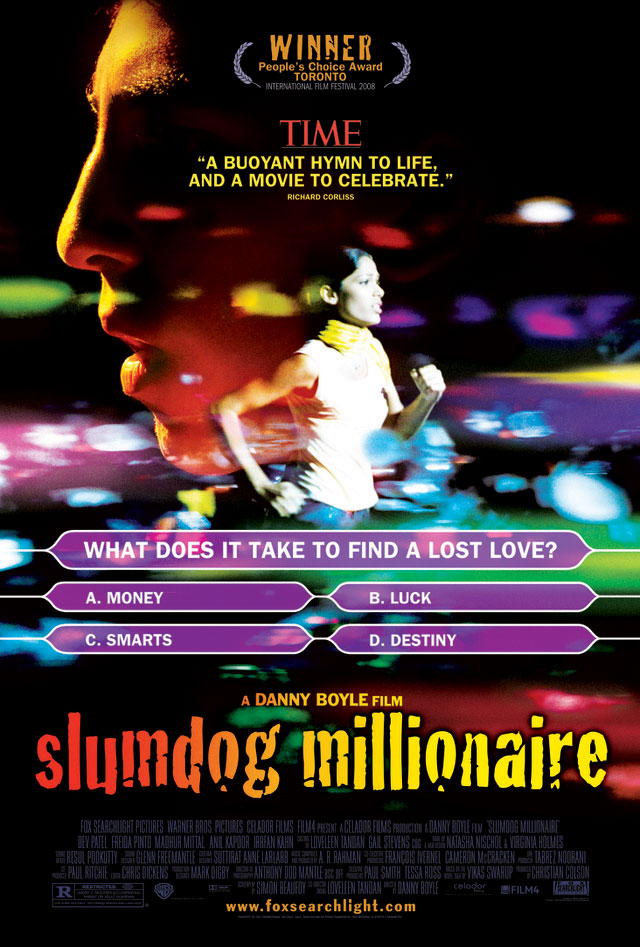 slumdog millionaire questions 205 results for slumdog millionaire narrow results: all results sparknotes shakespeare fortune as the novel progresses, nick learns that gatsby was born james gatz on a farm in north dakota working for a millionaire made him dedicate his life to the achievement of wealth when he met.