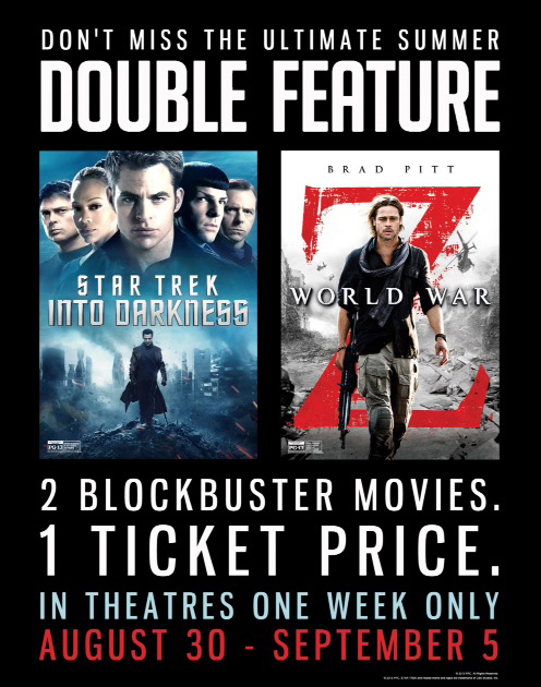 Star Trek Into Darkness and World War Z movie posters