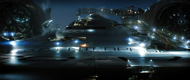 The first photo of the U.S.S. Enterprise in the new Star Trek film