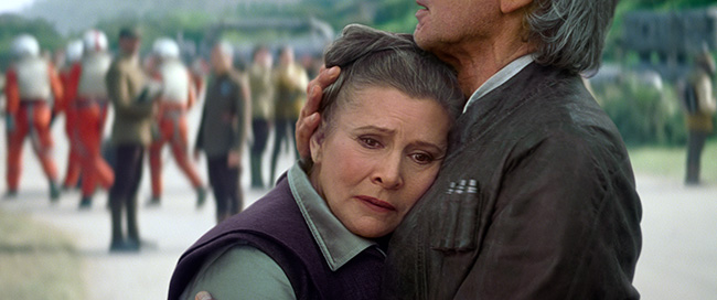 Carrie Fisher and Harrison Ford in Star Wars: Episode VII - The Force Awakens