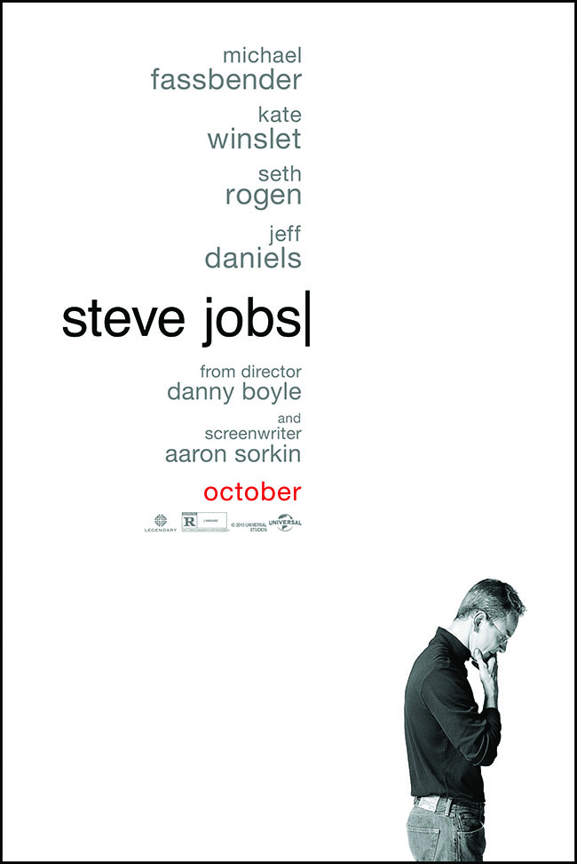 The movie poster for Steve Jobs starring Michael Fassbender from Danny Boyle