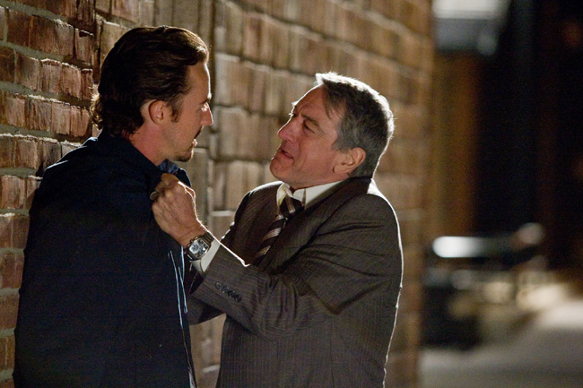 Edward Norton and Robert De Niro in Stone