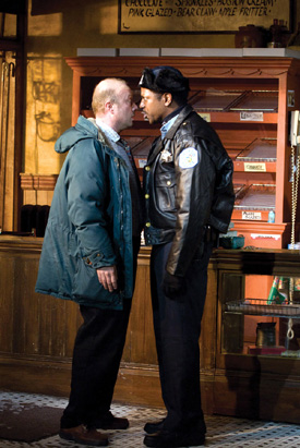 Ensemble members Yasen Peyankov (left) and James Vincent Meredith in Superior Donuts