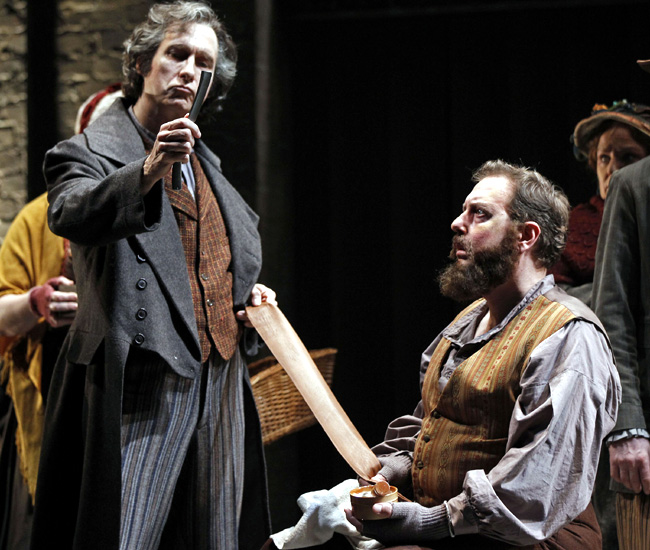 Gregg Edelman and Matthew Jones in Drury Lane Theatre's Sweeney Todd