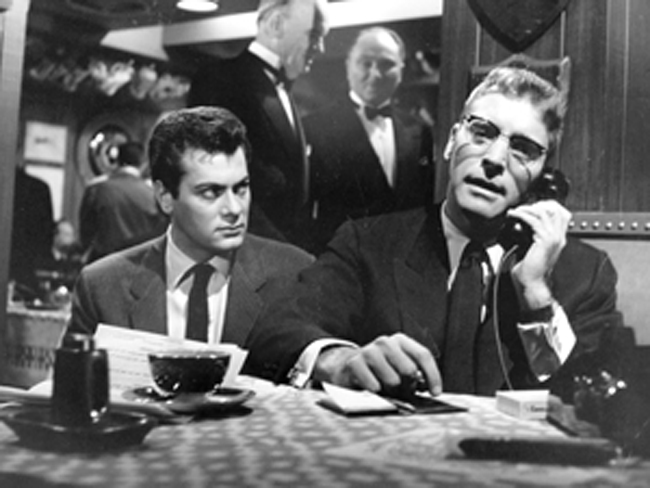 Tony Curtis (left) and Burt Lancaster in 'Sweet Smell of Success'