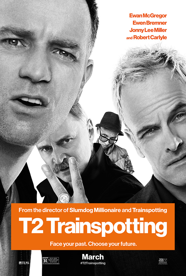 The movie poster for T2 Trainspotting starring Ewan McGregor