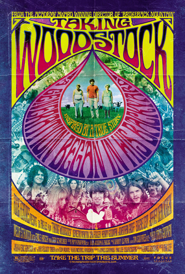 The movie poster for Taking Woodstock