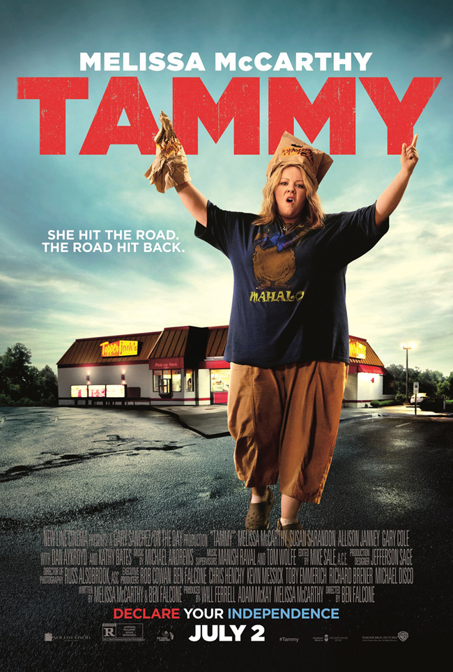 The movie poster for Tammy starring Melissa McCarthy and Susan Sarandon