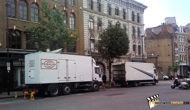 The first set photo from St. John Street in London on May 12, 2011