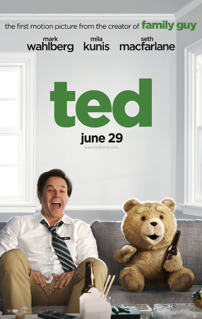 The Ted movie poster with Mark Wahlberg and Mila Kunis