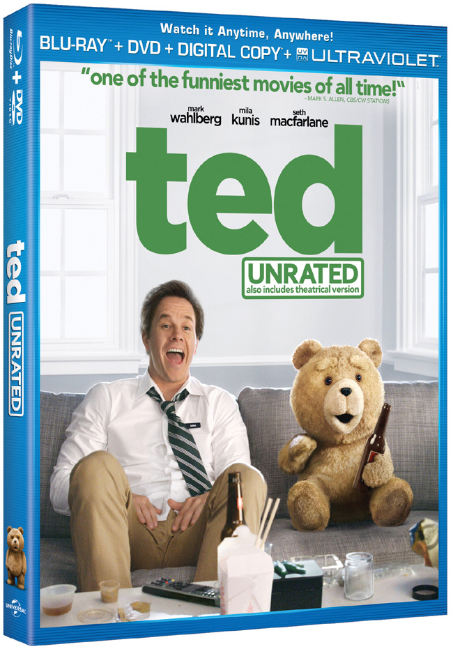 Ted comes to Blu-ray and DVD combo pack on Dec. 11, 2012