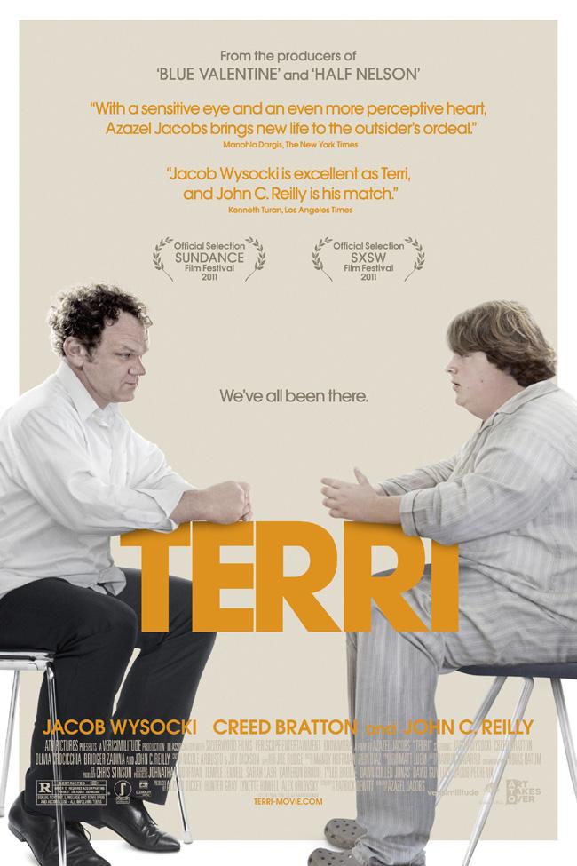 The movie poster for Terri starring John C. Reilly