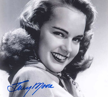 The Starlet Days: Terry Moore in an Early Publicity Shot