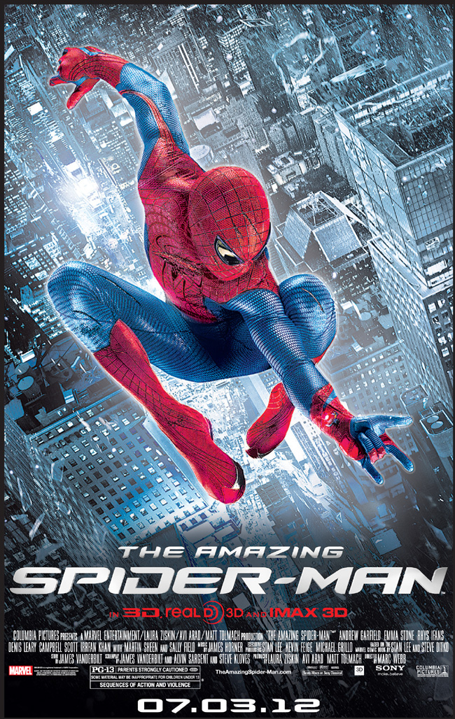 The Amazing Spider-Man movie poster starring Andrew Garfield and Emma Stone