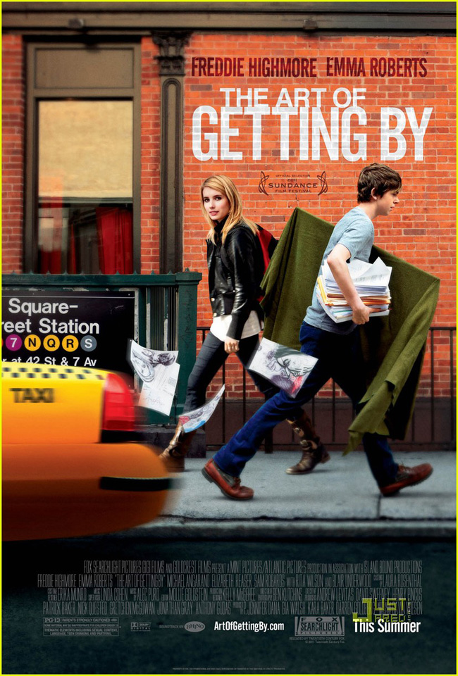 The movie poster for The Art of Getting By with Emma Roberts and Freddie Highmore
