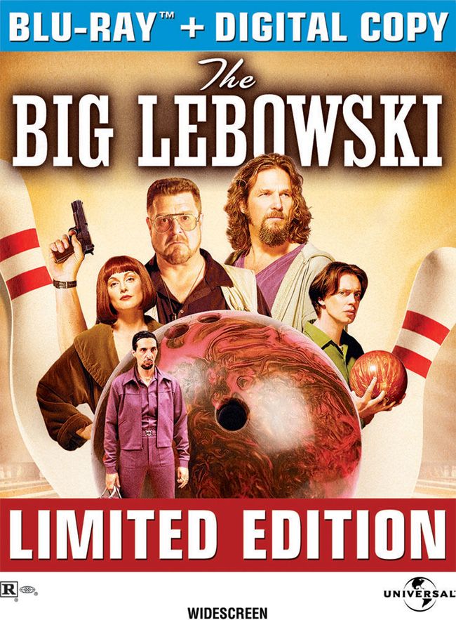 The Blu-ray for The Big Lebowski with Jeff Bridges, John Goodman and Julianne Moore