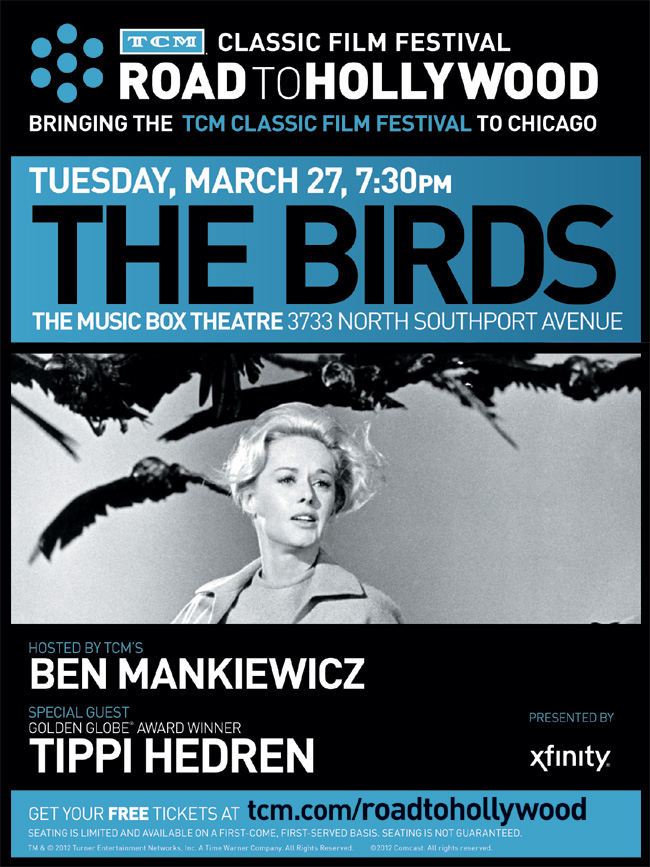 The Birds classic movie screening in Chicago from Turner Classic Movies