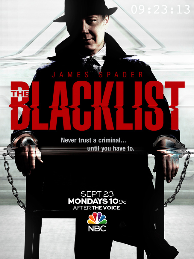 The TV poster for NBC's The Blacklist starring James Spader