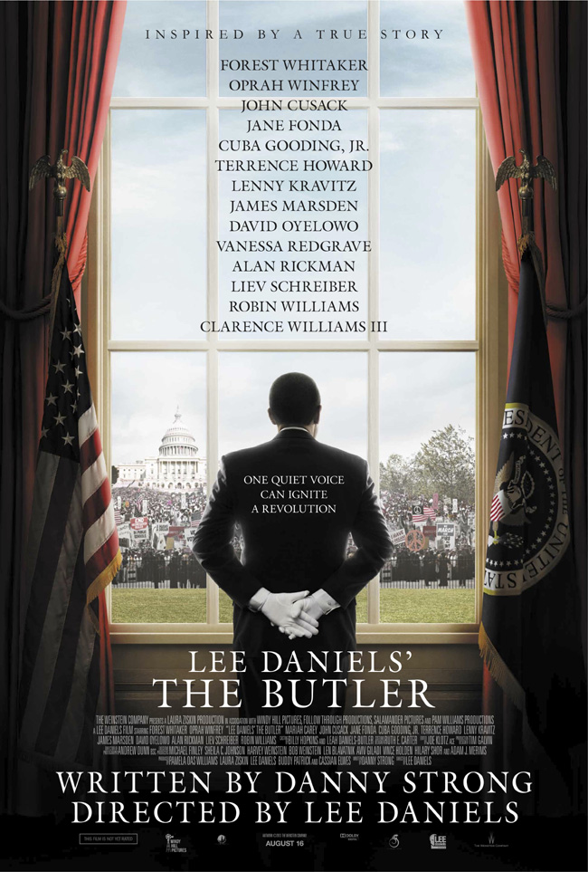 The movie poster for Lee Daniels' The Butler starring Forest Whitaker and Oprah Winfrey