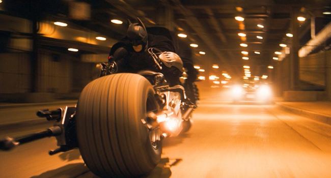 The Batpod in the The Dark Knight